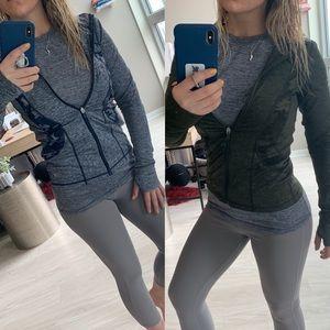 90 degree camo print zip up sweaters girls large